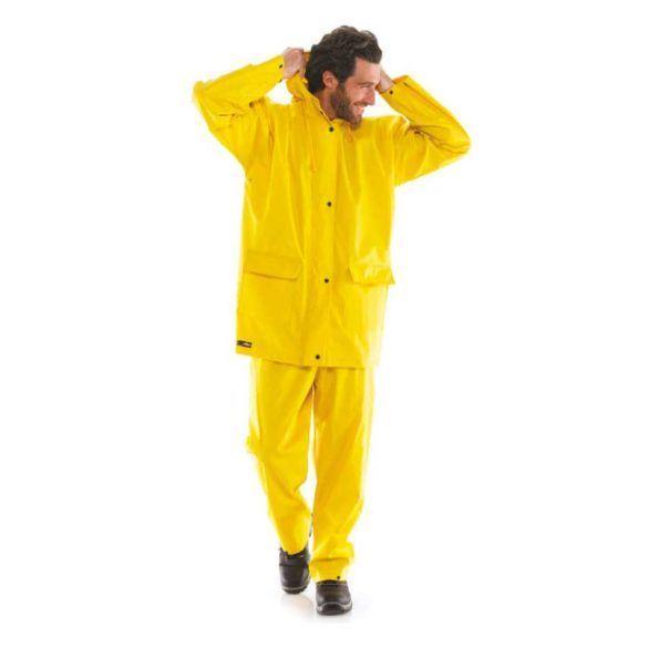 Αδιάβροχο κοστούμι μηχανής PVC κίτρινο και πράσινο