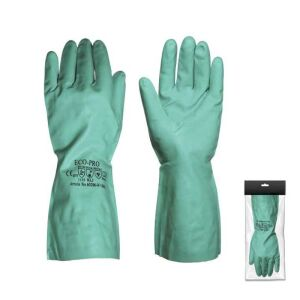 Γάντια χημικών νιτριλίου πράσινα
