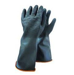 Γάντια PVC εργασίας ελαστικά - σαγρέ