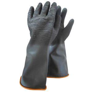Γάντια PVC σαγρέ χημικών ελαστικά εργασίας 38 cm
