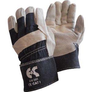Γάντια εργασίας τζιν δερματοπάνινα