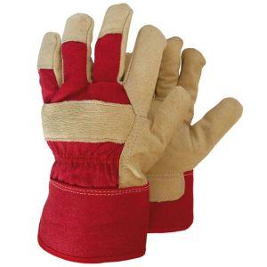 Γάντια εργασίας φυσικό δέρμα κόκκινα