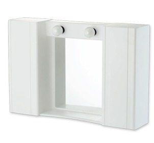 Καθρέπτης μπάνιου πλαστικός λευκός με ντουλάπι
