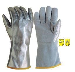 Γάντια θερμοκρασίας από δέρμα και αλουμίνιο