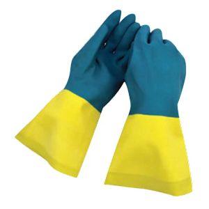 Γάντια νεοπρενίου Δίχρωμα latex εργασίας