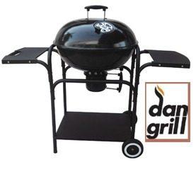Ψησταριά κάρβουνου με δύο ράφια πλαϊνά Dan Grill