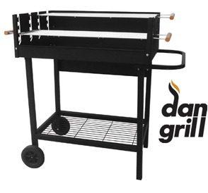 Ψησταριά κάρβουνου με δύο σχάρες Dan Grill