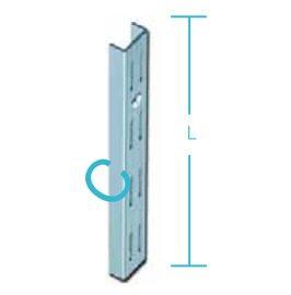 Βέργα - ορθοστάτης τοίχου ES διπλής διάτρησης Element system