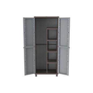 Ντουλάπα πλαστική 68x37.5x170 cm με χώρισμα JRattan terry