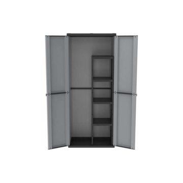 Ντουλάπα πλαστική 68x37.5x163.5 cm με χώρισμα JLine terry