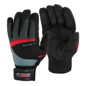 Γάντια εργασίας μαύρα από συνθετικό δέρμα Maco Maxi-Tech