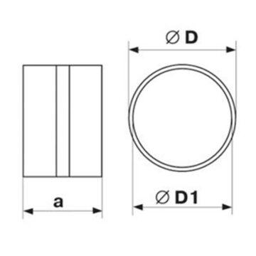Μούφα σύνδεσης για πλαστικό σωλήνα Φ100 και Φ125 Vents