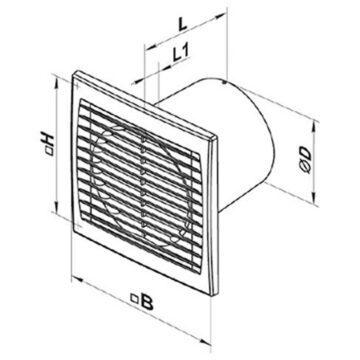 Εξαεριστήρας μπάνιου ηλεκτρικός Vents