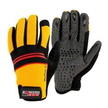 Γάντια μηχανικών από συνθετικό δέρμα Maco Maxi-Power