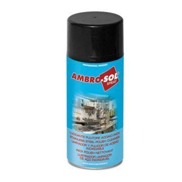 Σπρέι γυαλιστικό καθαριστικό ανοξείδωτων επιφανειών Ambrosol