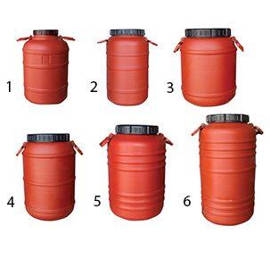 Βαρέλι πλαστικό 30-75Lt με χειρολαβές ΜΟΡΝΟΣ