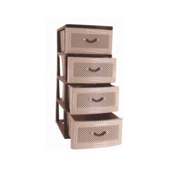 Συρταριέρα πλαστική με 4 συρτάρια διάτρητα