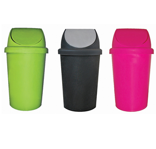 Κάδος απορριμάτων πλαστικός 50lt σε διάφορα χρώματα