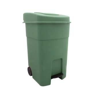 Κάδος απορριμάτων με πλαστικό πεντάλ και ρόδες