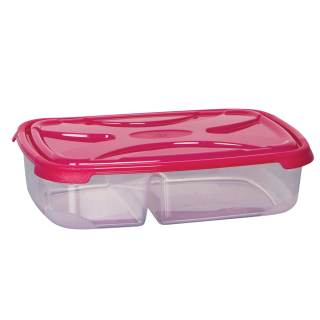 Τάπερ ορθογώνιο πλαστικό FRESCO δύο θέσεων