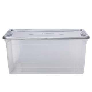 Κουτί πλαστικό αποθήκευσης διαφανές