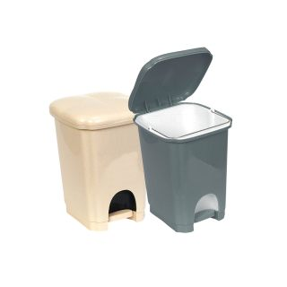 Καλαθάκι μπάνιου τουαλέτας τετράγωνο με πεντάλ