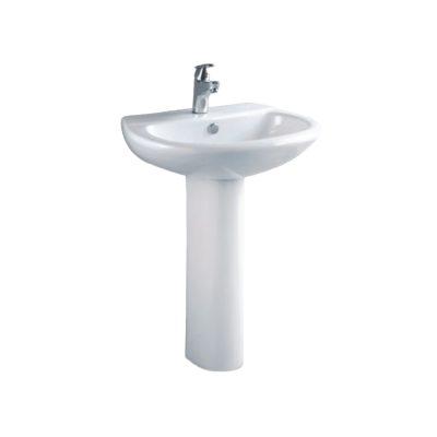 Νιπτήρας μπάνιου με κολόνα προρσελάνινος LAGUNA