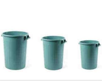 Κάδος απορριμάτων από πρωτογενές πλαστικό πράσινος