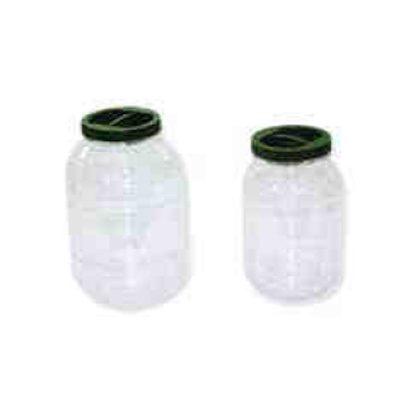 Βάζο χωρίς χειρολαβή πλαστικό PET με βιδωτό καπάκι