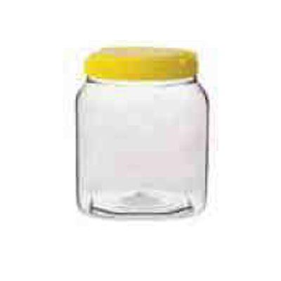 Βάζο διάφανο μελιού πλαστικό PET με χειρολαβή