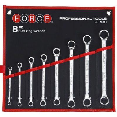 Πολύγωνα ίσια κλειδιά σε σετ 6-22mm Chrom Vanadium FORCE