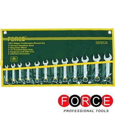 Γερμανοπολύγωνα κλειδιά κοντού μήκους FORCE σε σετ 8-19mm