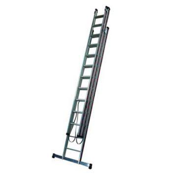 Σκάλα τριπλή αλουμινίου επαγγελματική πτυσσόμενη