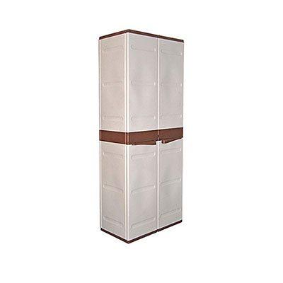 Ντουλάπα πλαστική Μύκονος ψηλή με 4 ράφια