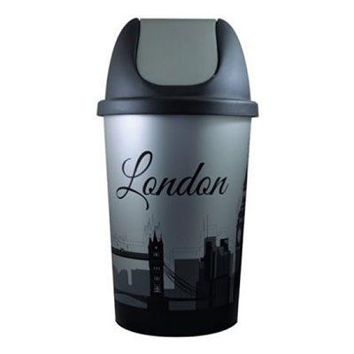 Κάδος απορριμάτων πλαστικός 50lt London καταστημάτων
