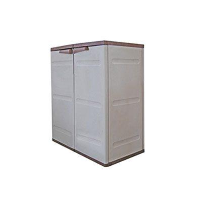 Ντουλάπα πλαστική Πάτμος κοντή με 2 ράφια