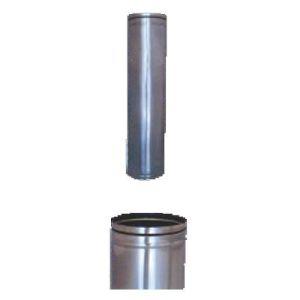 Καπνοδόχος - αεραγωγός αλουμινίου λείας επιφάνειας