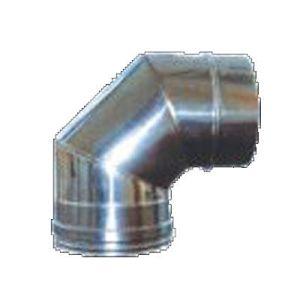 Καμπύλη - γωνία αεραγωγών 90 μοιρών αλουμινίου