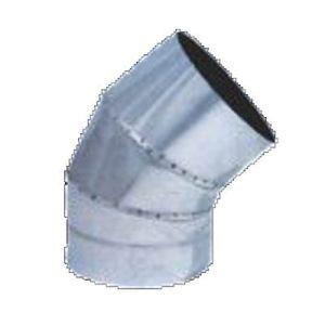Καμπύλη - γωνία αεραγωγών 45 μοιρών αλουμινίου