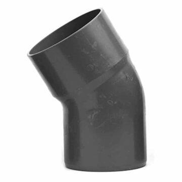 Γωνία με καμπύλη 30 μοιρών Φ100 αποχέτευσης PVC