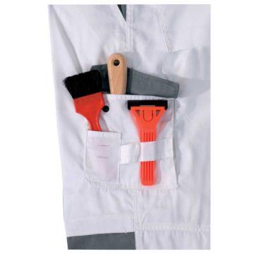 Παντελόνι μπογιατζήδων - ελαιοχρωματιστών εργασίας λευκό
