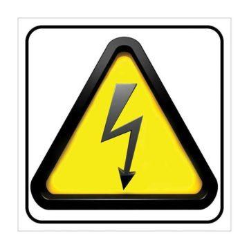 Αυτοκόλλητο πινακίδα κίνδυνος ηλεκτροπληξίας