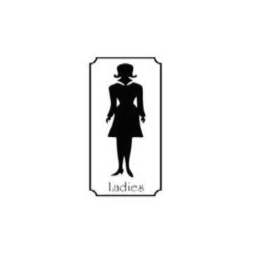 Πινακίδα πλαστική WC γυναικών