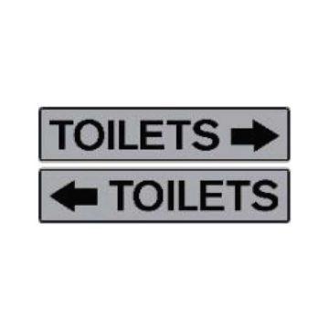 Αυτοκόλλητη πινακίδα τουαλέτας Toilets