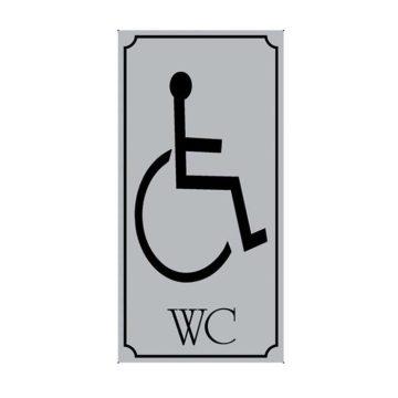 Πλαστική πινακίδα WC για ΑΜΕΑ