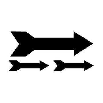 Πινακίδα σήμανσης αυτοκόλλητη βέλος