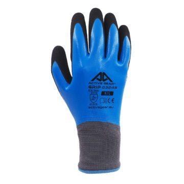 Γάντια εργασίας από πολυεστέρα με πλήρη επικάλυψη νιτριλίου