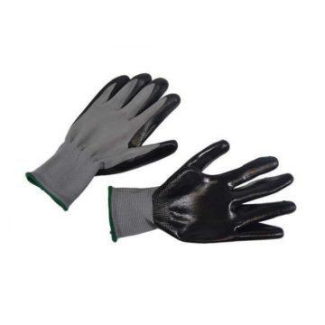 Γάντια προστασίας νιτριλίου μαύρου χρώματος