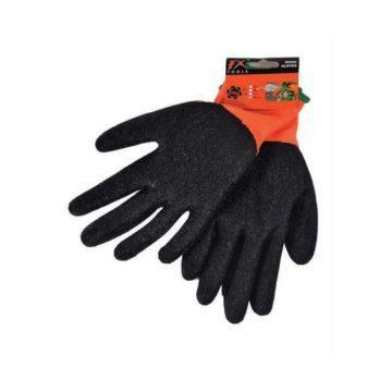 Γάντια εργασίας μαύρου χρώματος με επικάλυψη νιτριλίου