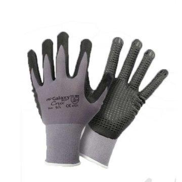 Πλεκτά γάντια εργασίας νιτριλίου με βούλες Galaxy Crux